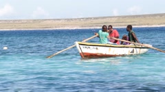 Haitian Fishing Boat Stock Footage