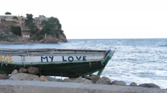 """My Love"" Canoe Haiti Stock Footage"