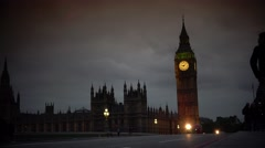 ULTRA HD 4K real time shot, Palace of Westminster and Big Ben Stock Footage
