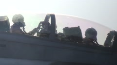 Stock Video Footage of F/A-18 Hornets and EA-6B Prowlers Launch From Aircraft Carrier