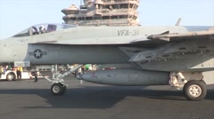 Aircraft Carrier USS George H.W. Bush Flight Operations Stock Footage