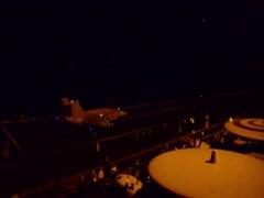 Aircraft Carrier USS George H.W. Bush night Flight Operations Stock Footage