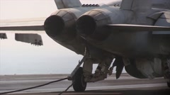 Aircraft Being Recovered and Launched from USS George H.W. Bush Stock Footage