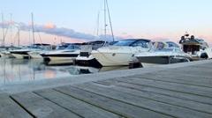 Calm yacht port 2 Stock Footage