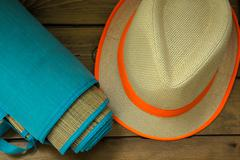 Getting ready for a hot summer day - stock photo