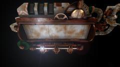 Stylized steam punk rust mechanism Stock Illustration