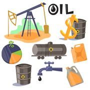 Oil Production Infographic Elements Vector - stock illustration