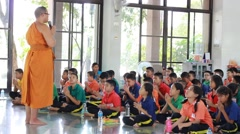 Thai Students made fun events. - stock footage