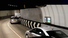 Cars in London road tunnel  - time lapse - stock footage