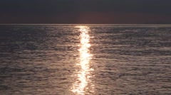 Sun Reflection on the Sunset Before Storm Stock Footage
