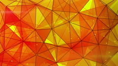 Orange triangles web pattern loopable 4k (4096x2304) Stock Footage
