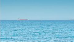Cargo Tanker In The Sea Time Lapse Stock Footage