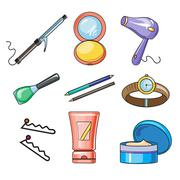 Stock Illustration of Female and Women Accessories Icon
