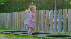 Beautiful girl in the playground Stock Footage