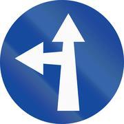 Stock Illustration of Go Straight Or Left in Greece