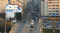 Revolucni street, new town (Nove mesto), Prague Stock Footage