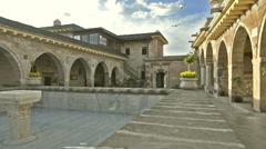 Courtyard of Haji Bektash Veli Tomb Stock Footage