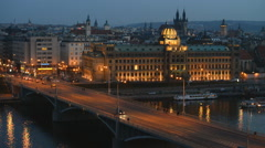 Ministry of Industry and Trade, Old Town, Prague - stock footage
