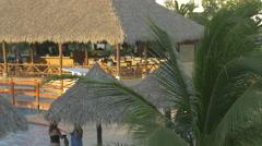 The pool of Playa Blanca Resort in Panama Stock Footage