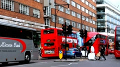 Tourists and locals in the famous Oxford Street near Primark shop - time lapse Stock Footage