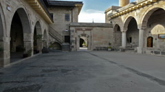 Courtyard of Haji Bektash Veli Tomb Stock Footage