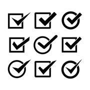 Check mark icon Stock Illustration