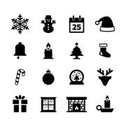 Christmas icon - stock illustration