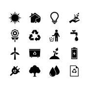 Ecology icon - stock illustration