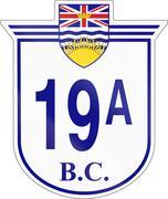 Stock Illustration of British Columbia Highway 19A
