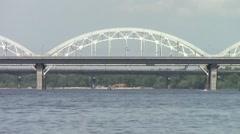 Time Lapse: City Bridge, Kyiv, Ukraine Stock Footage