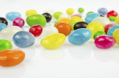 Coloured dragee close up Stock Photos