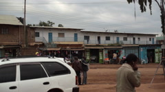 Street in Maralal capital of Samburu County, Kenya, long shot Stock Footage
