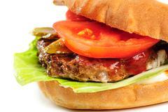 realistic looking part of hamburger - stock photo