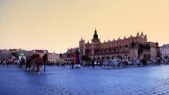 Krakow, Poland Timelapse Stock Footage