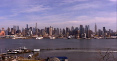 Timelapse of the midtown Manhattan skyline in the morning Arkistovideo