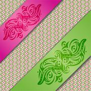 Background with ribbons. Stock Illustration
