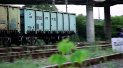 Train Rides on Rails Stock Footage
