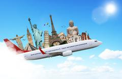 Illustration of famous monument of the world - stock illustration