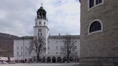 Residenz Square in Salzburg, Austria Stock Footage
