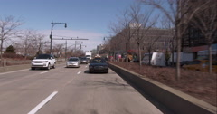 Driving down the West Side Highway in Manhattan on a clear day Stock Footage