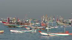 Jimbaran Fish market Harbour Bali #2 4K Stock Footage