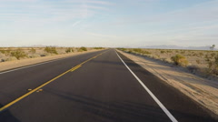 Stock Video Footage of POV Vehicle Driving California Highway 62 Mojave Desert