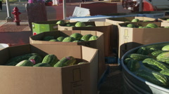 Watermelons for the festival Stock Footage
