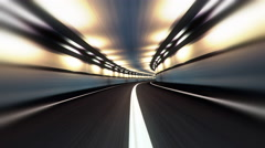 Abstract speed highway road tunnel Stock Footage