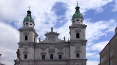 The Salzburg Cathedral in Salzburg, Austria Stock Footage