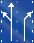 Stock Illustration of Lane Preselection Sign In Greece