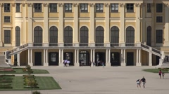 ULTRA HD 4K Closeup Schonbrunn Palace royal facade architecture Vienna landmark  Stock Footage
