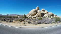 Driving By Hall Of Horrors Day Use Area- Joshua Tree Nat. Park Stock Footage