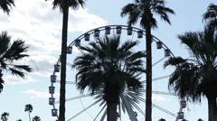 Ferris wheel in festival Stock Footage