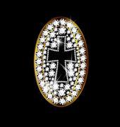 jewel cross - stock illustration